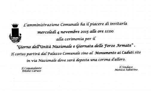 """04 Novembre 2015 """"Giorno dell'Unità Nazionale e Giornata delle Forze Armate"""""""