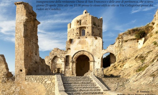 Ruderi Chiesa San Francesco orario di visite