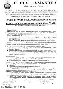 Avviso Consultazione Veruifica VAS Lottizzazione Formiciche