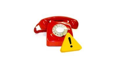 AVVISO – Problemi temporanei con le linee telefoniche